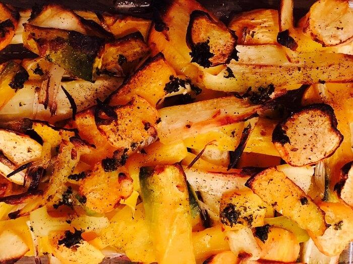 Croustillant de légumes racines