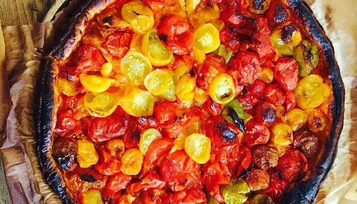 Un feuilleté aux tomates multicolores