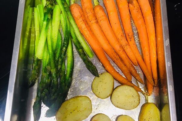 Légumes printaniers croquants